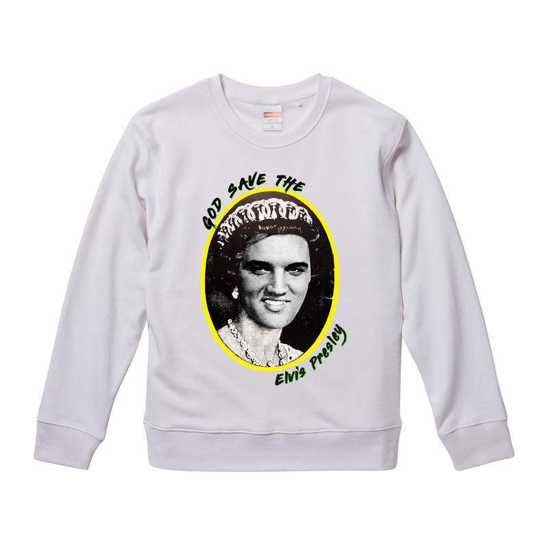 【God Save The Elvis Presley/エルヴィス・プレスリー】9.3オンス スウェット/WH/SW- 277