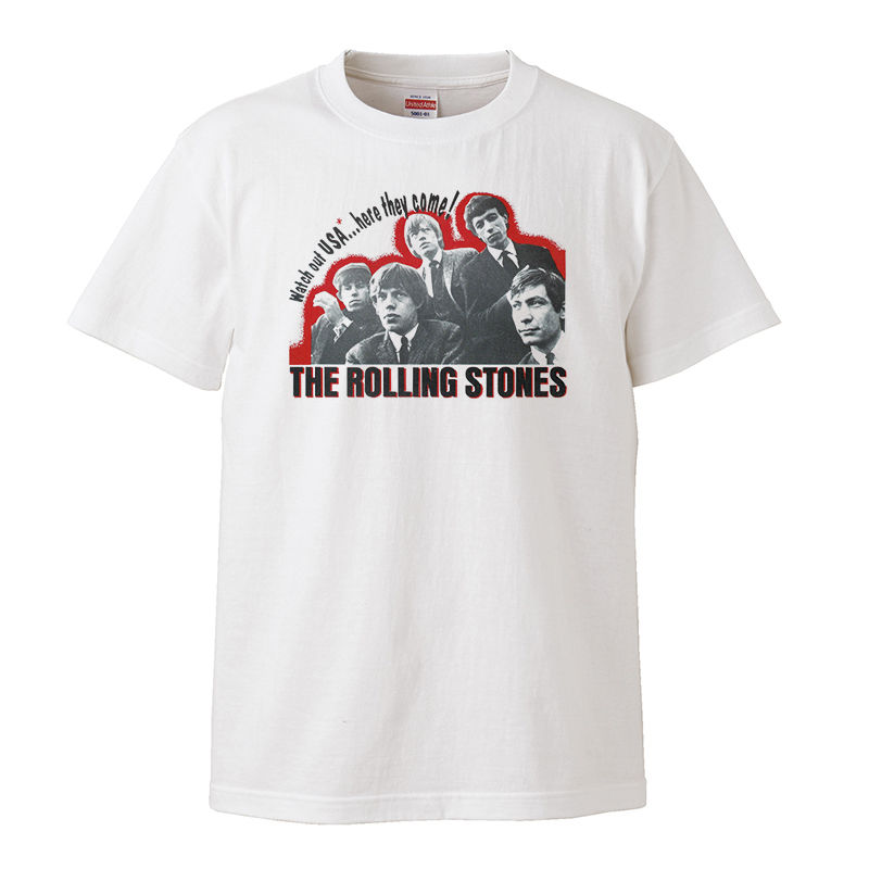 【The Rolling Stones/USA 2nd 】5.6オンス Tシャツ/WH/ST- 146