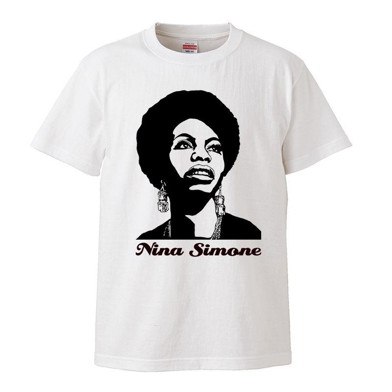 【Nina Simone/ニーナシモン】5.6オンス Tシャツ/WH/ST- 225
