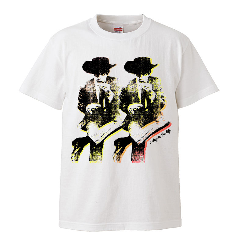 """【Paul McCartney-""""A Day in the Life""""/ポール・マッカートニー】5.6オンス Tシャツ/WH/ST- 164"""