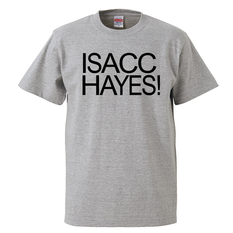 【ISACC HAYES-アイザック・ヘイズ/ISACC HAYES!】5.6オンス Tシャツ/GY/ST- 227