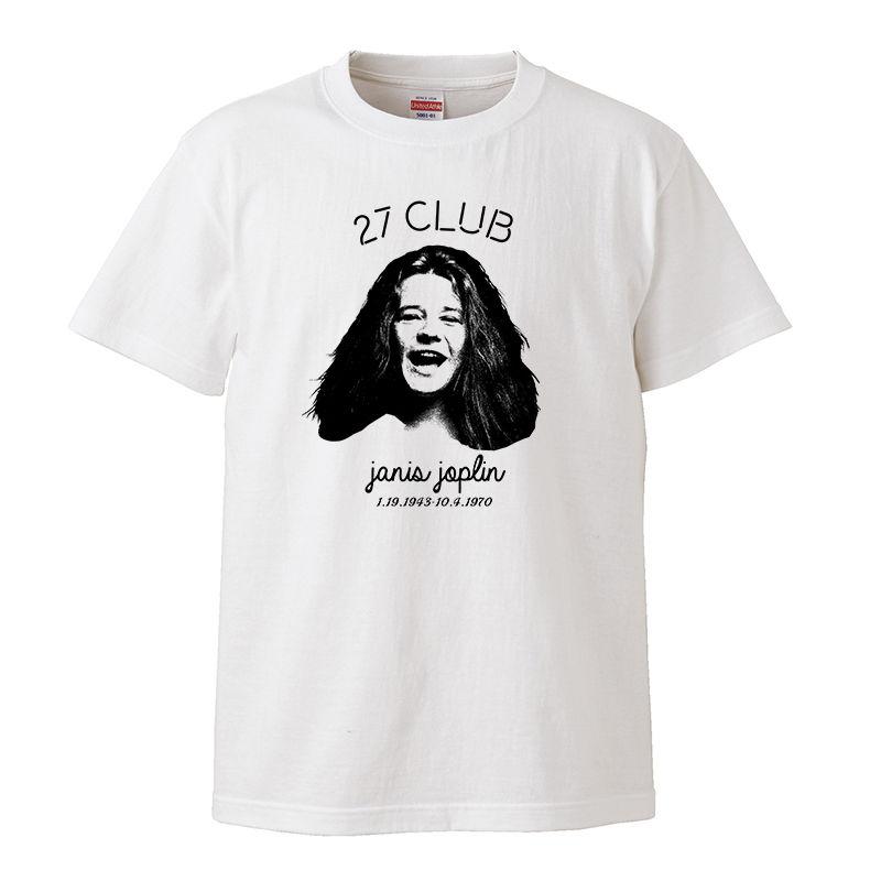 【27cub/Janis Joplin-ジャニス・ジョプリン】5.6オンス Tシャツ/WH/ST- 324