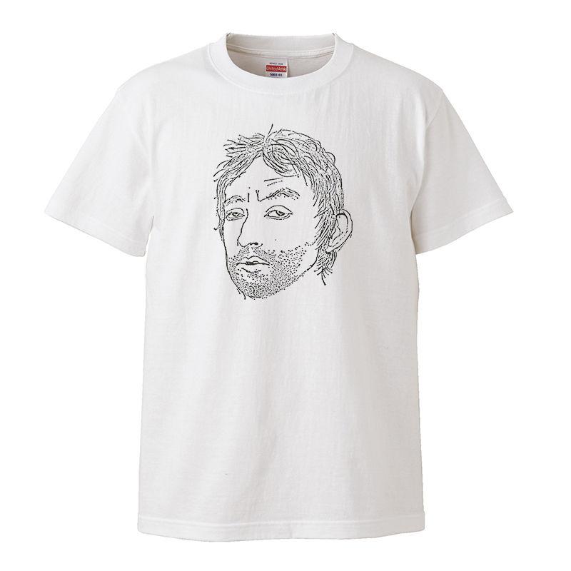 【Serge Gainsbourg/セルジュ・ゲンスブール】5.6オンス Tシャツ/WH/ST-019_bk