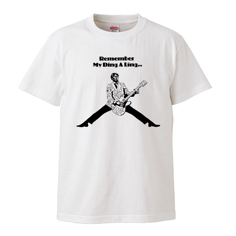 【Chuck Berry-チャックベリー/My ding a ling】5.6オンス Tシャツ/WH/ST- 362