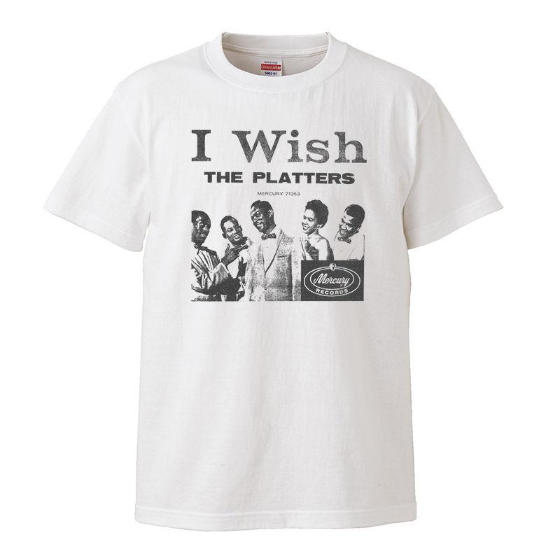 【The Platters-ザ・プラターズ/I wish】5.6オンス Tシャツ/WH/ST- 296