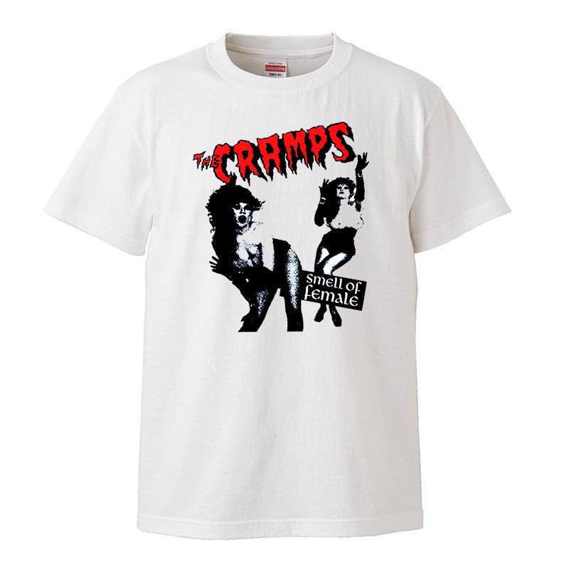【The Cramps-クランプス/smell of female】 5.6オンス Tシャツ/WH/ST- 364