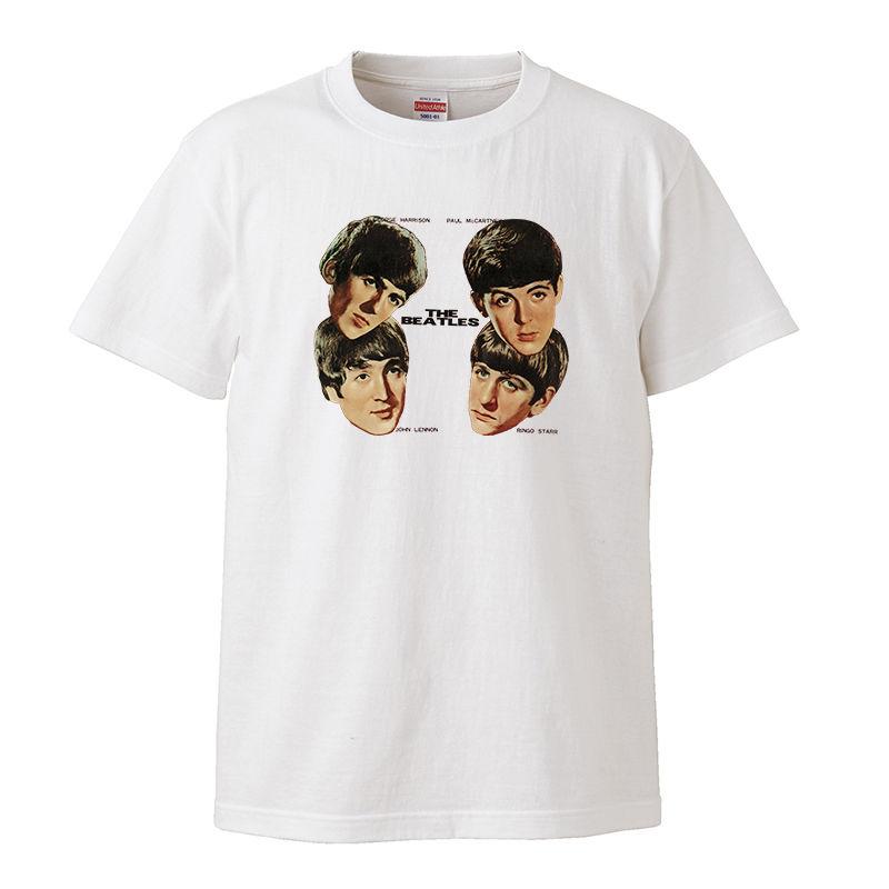 【The Beatles/ザ・ビートルズ】5.6オンス Tシャツ/WH/ST-031