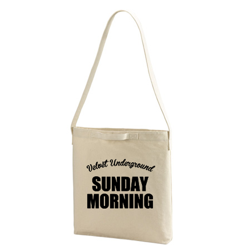 【The Velvet Underground-ヴェルヴェット・アンダーグラウンド/SUNDAY MORNING】ヘビーキャンバス ショルダーバッグ/NT/TB- 163
