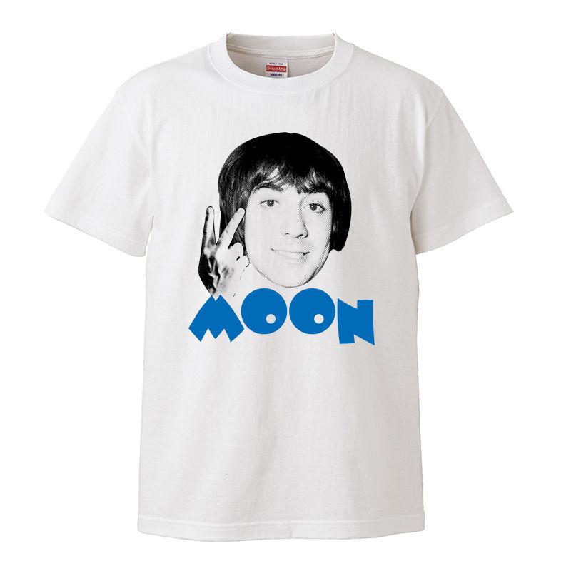 【Kieth Moon-キース・ムーン】5.6オンス Tシャツ/BLWH/ST- 299