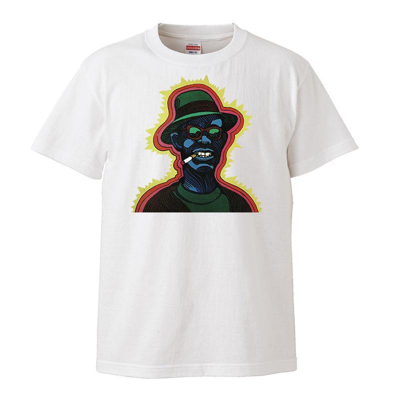 【Lightnin' Hopkins-Lightnin'!/ ライトニンホプキンス】5.6オンス Tシャツ/WH/ST-109