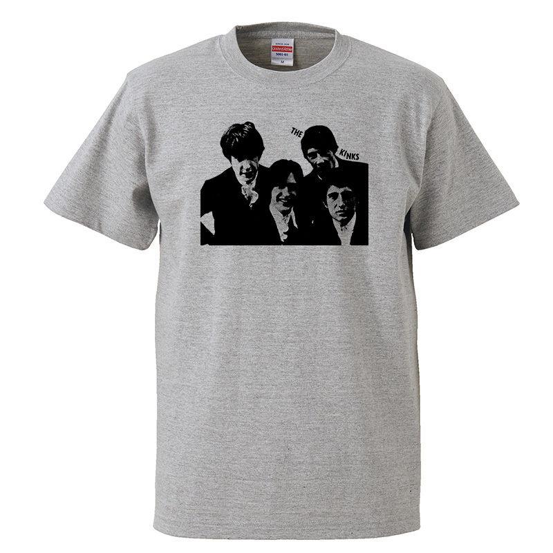 【THE KINKS/ザ・キンクス】5.6オンス Tシャツ/GY/ST- 346