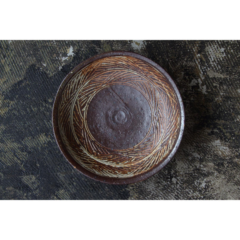 彫三島六寸鉢 井上茂