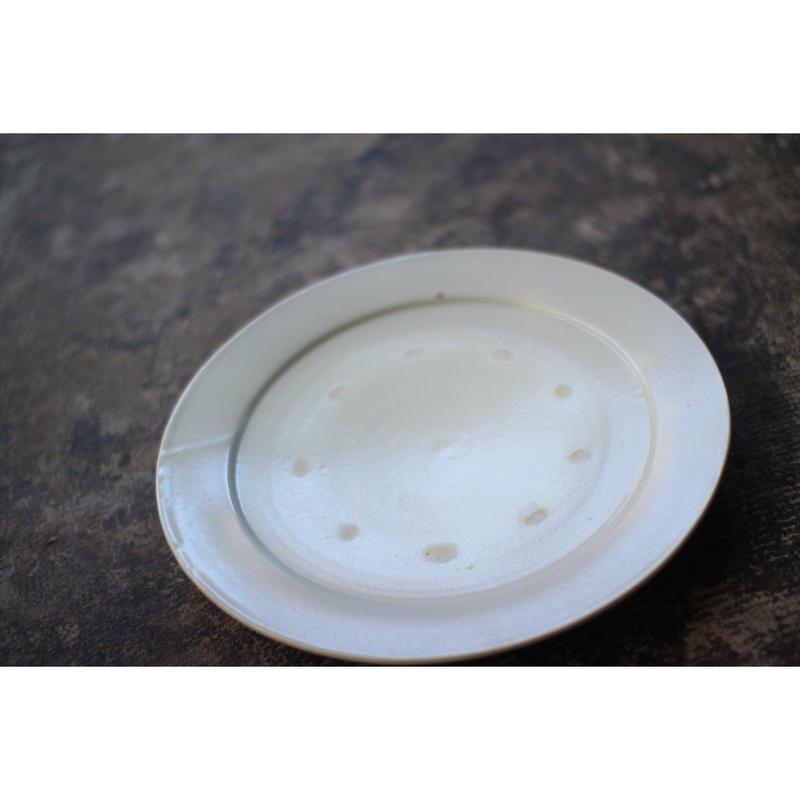 白磁9寸リム皿 小泉敦信