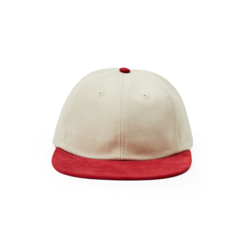 POP TRADING POP SIXPANEL HAT OFF WHITE/RUBY RED