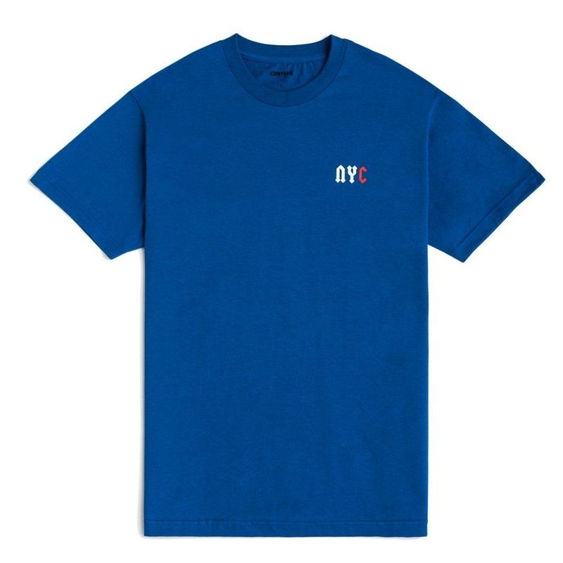 CHRYSTIE NYC C LOGO T-SHIRT / ROYAL BLUE