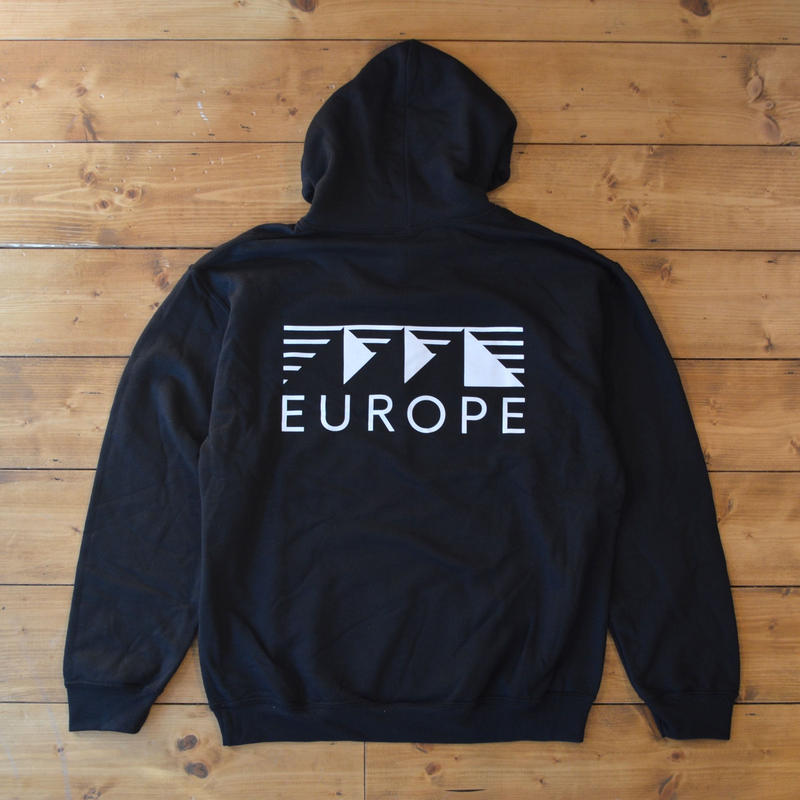 EUROPE CO. Classic logo hoodie - Black
