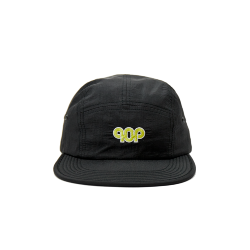 POP TRADING  PUB FLEXFOAM 5 PANEL HAT BLACK