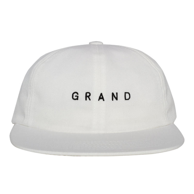 GRAND COLLECTION  Small Logo Cap White