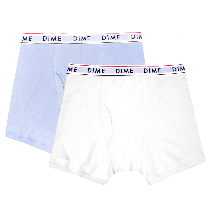 DIME BOXERS 2-PACK  Light Blue / White