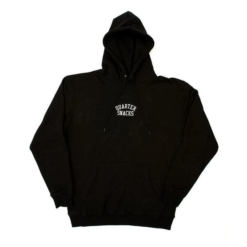 QUARTER SNACKS Embroidered Arch Hoody — Black