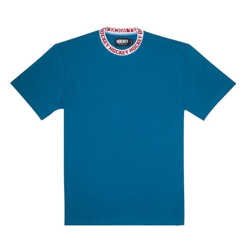 HOCKEY Knit Ringer Tee Electric Blue/White
