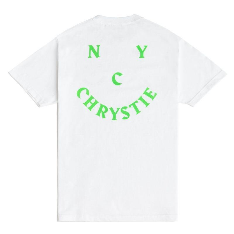 CHRYSTIE NYC SMILE LOGO T-SHIRT / WHITE