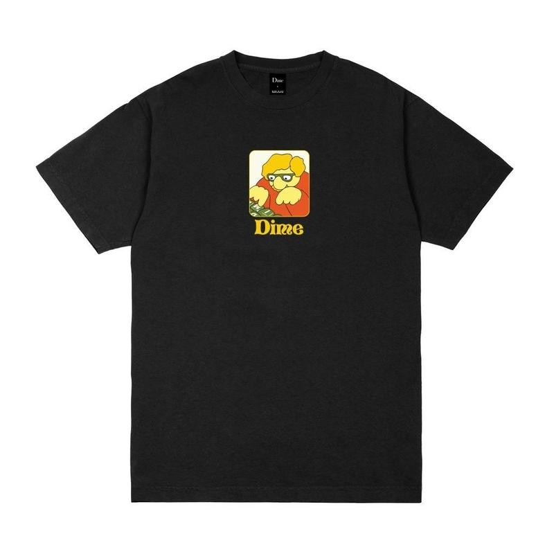 DIME TYPO T-SHIRT Black
