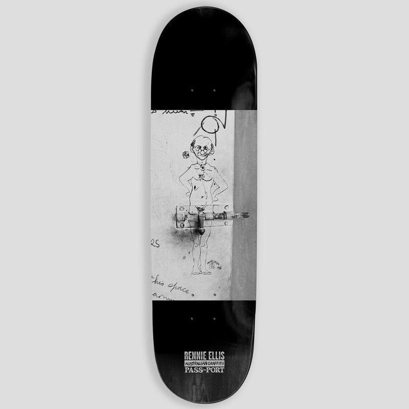 "PASS~PORT & RENNIE ELLIS AUSTRALIAN GRAFFITI ""COCK LOCK"" DECK - 8.25"