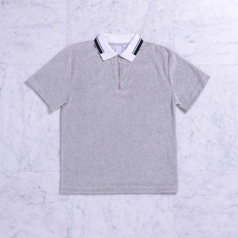 QUASI Velour Zip Polo [Heather Grey]