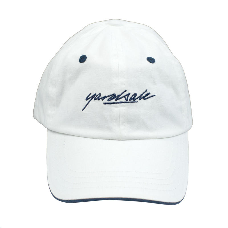 YARDSALE Script Hat White/Navy