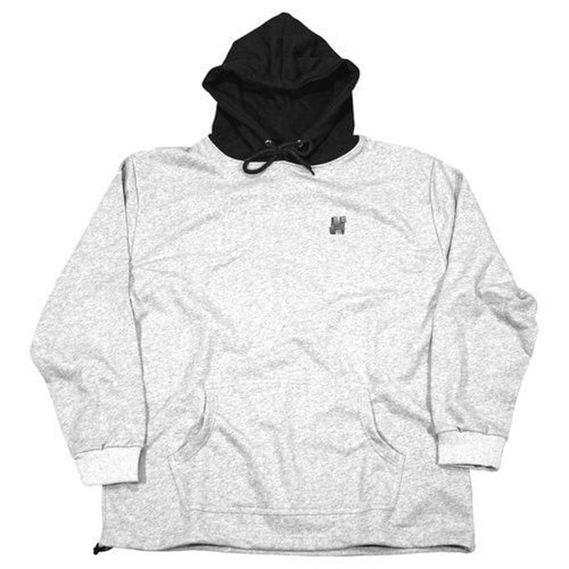 NORTH SKATE MAG North N Logo Two Tone Hoodie - Grey/Black