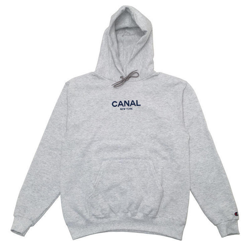 "CANAL ""CLASSIC LOGO"" CHAMPION HOODIE - HEATHER WHITE"