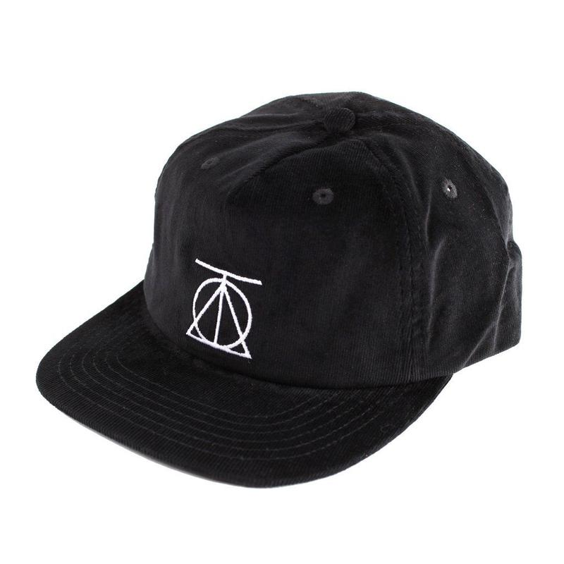 Theories Crest Strapback Corduroy Black