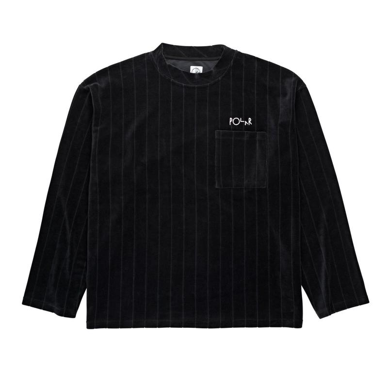POLAR SKATE CO. VELOUR  PULLOVER BLK