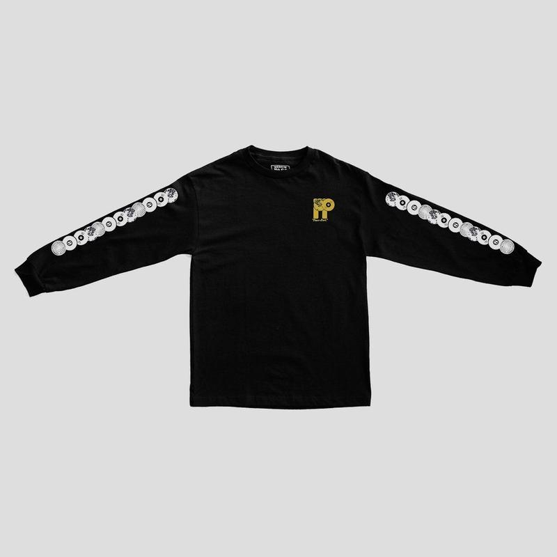 "PASS~PORT ""PP WORLD RECORDS"" L/S TEE BLACK"