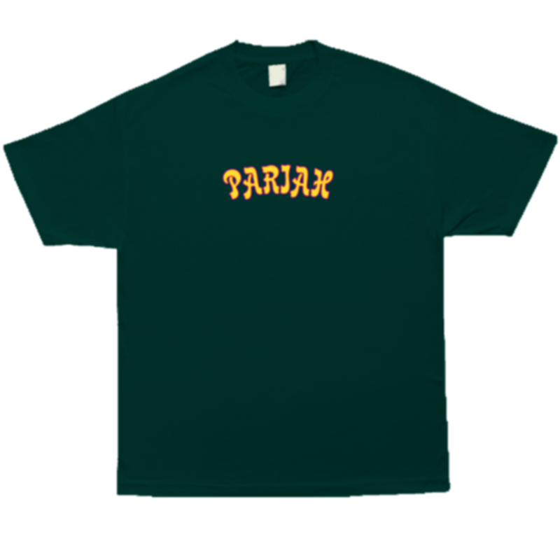 COME SUNDOWN PARIAH EMBROIDERED S/S TEE FOREST GREEN