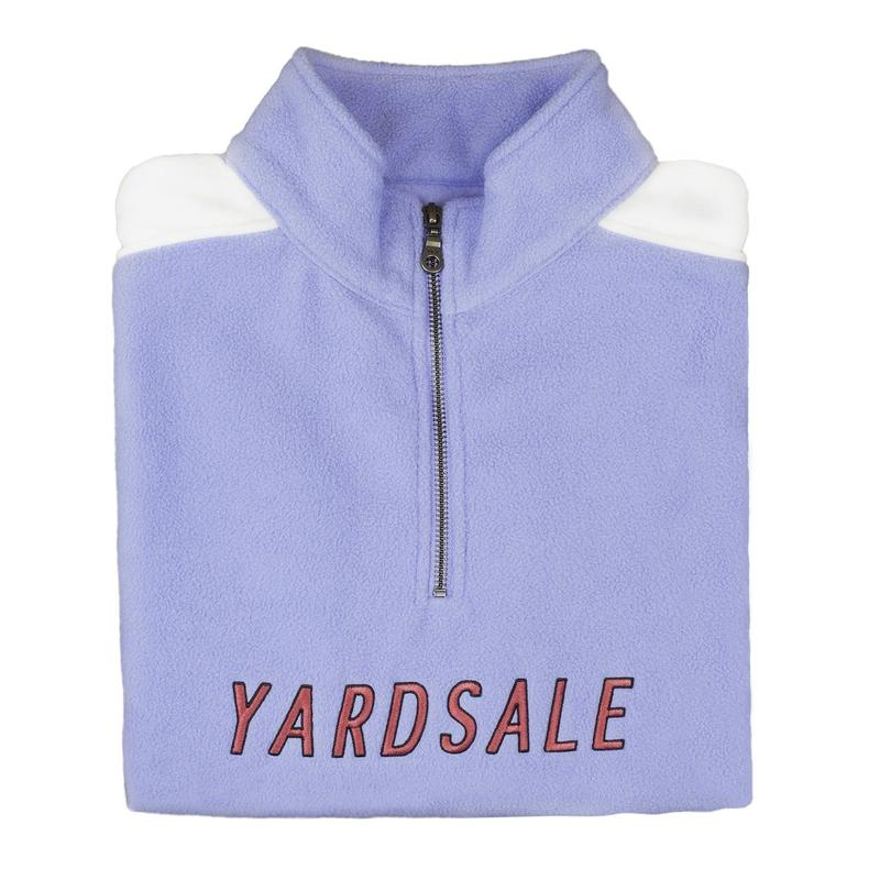 YARDSALE 1/4 zip Lilac/White Fleece