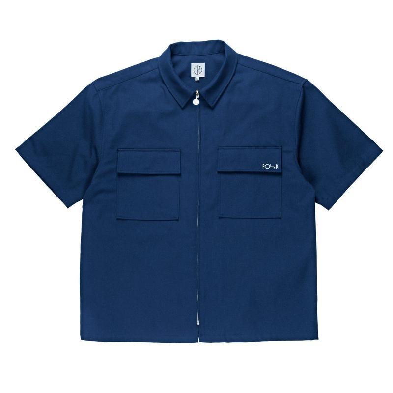 POLAR SKATE CO. WORK SHIRT BLUE