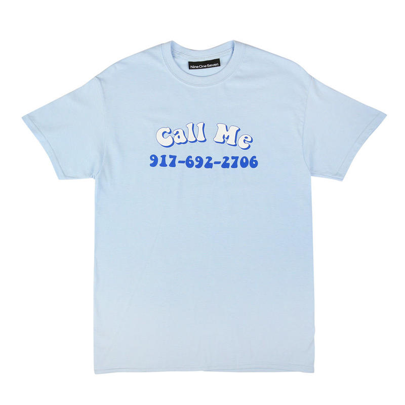 CALL ME 917 Groovy Call Me T-Shirt Blue