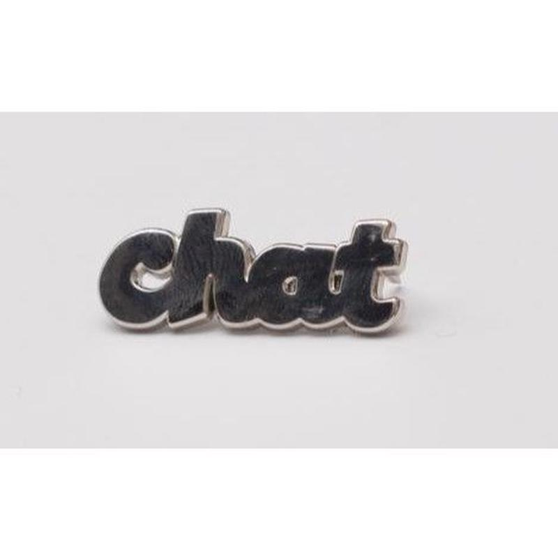 Chat cursive pin
