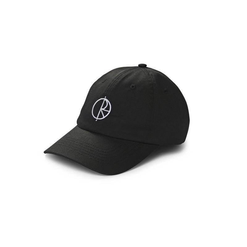 POLAR SKATE CO. STROKE LOGO CAP BLACK
