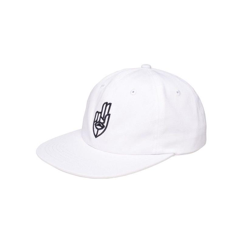 JETLAG BROTHERS - Two Finger Salute Hat White