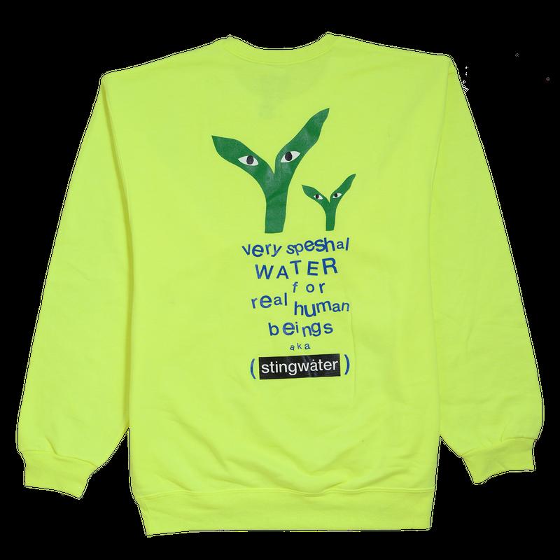 STINGWATER Groe Together Safe Green Sweater