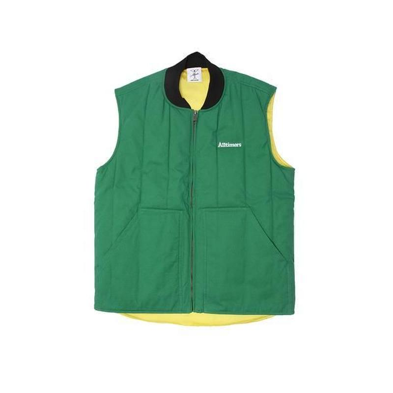 ALLTIMERS DELIVERY VEST GREEN/YELLOW