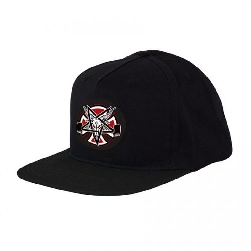 Indy X Thrasher Pentagram Cross Snapback Hat  Black