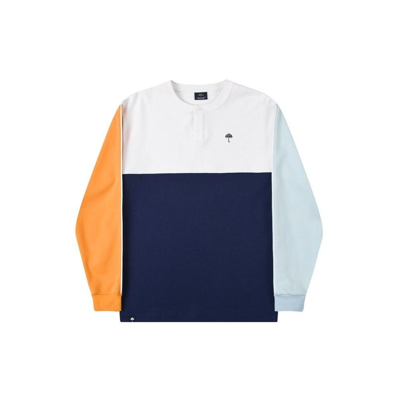 HELAS BLOCKS L/S TEE NAVY
