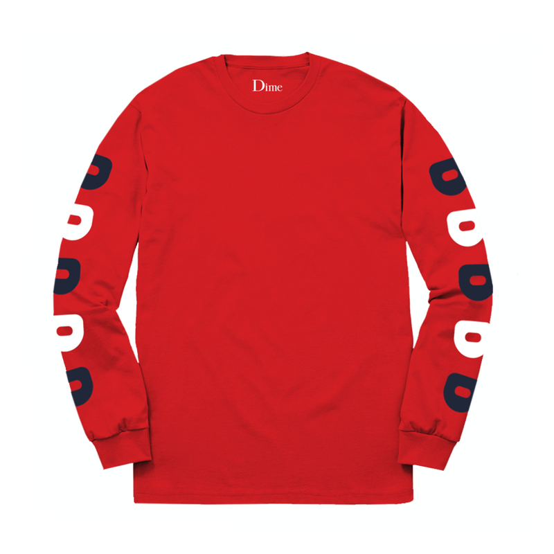 DIME D LONGSLEEVE T-SHIRT   Red