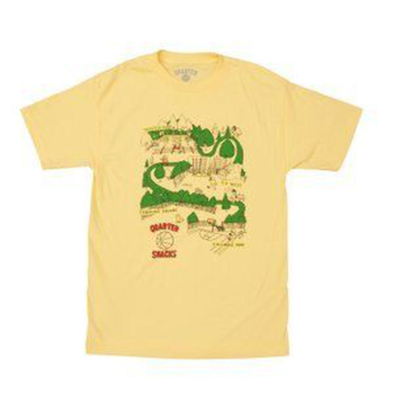 QUARTER SNACKS Courts Tee — Light Yellow