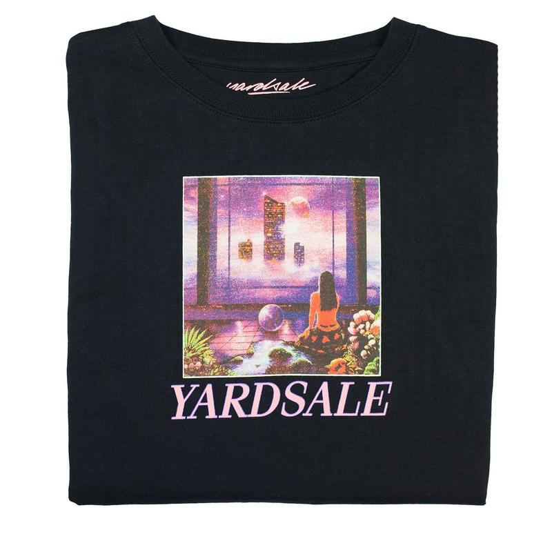 YARDSALE New World Long-sleeve T-shirt Black