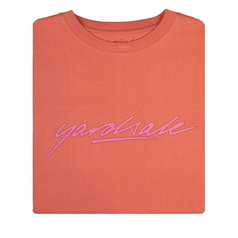 YARDSALE Script T-shirt Peach
